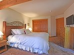Upstairs master bedroom with a king bed