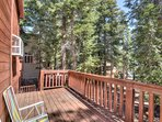 Upstairs back deck overlooking the beautiful Incline forest