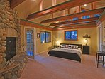 Master bedroom, with an en suite bathroom and attached sunroom