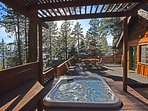 Hot tub looking out onto the lake