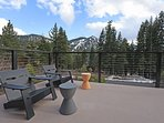 Front deck with great views of Alpine Meadows