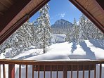 Looking over Alpine Meadows from the deck