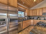 High end finished cabinets and modern appliances