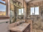 Master bathroom with a large stand up shower