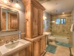 Bathroom #2 with standing shower and bathtub