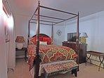 Downstairs guest bedroom one, queen bed