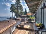 Deck table, eat while you take in great views of Lake Tahoe