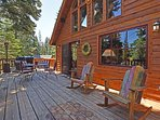 Step out onto the deck and enjoy views of Paige Meadows.