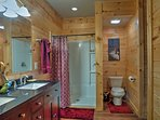 The second master en-suite offers a walk-in shower.