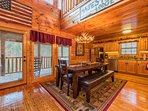 Dine in kitchen fully with great views out across the elevated porch