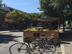 Bike rest stop on Roy street