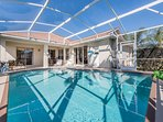 Beautiful south facing pool perfect to relaxing on after a long day at the theme parks