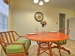 Gather around this table and enjoy home-cooked meals.