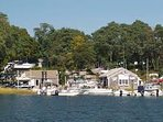 Meetinghouse Pond (salt water) is just a short walk down the road, with boat rentals and charters available