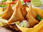 Ani, our manageress is a fantastic cook. Samosas are a Bahagia speciality.