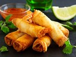 Ani, our manageress is a fantastic cook. Spring rolls are a Bahagia speciality