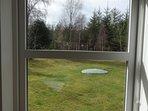 View from studio to garden