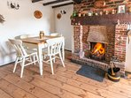 Open fire place for those cosy nights in