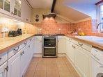 Modern galley style kitchen.