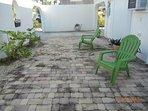 Front garden patio