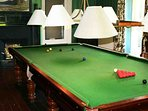 Relax in the snooker room
