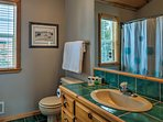 Relax with a hot shower in this third full bathroom.