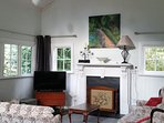 High vaulted whitewashed ceilings