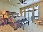 The master bedroom features a king bed.