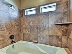 Relax in the tub or freshen up in the shower.