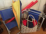 Beach supplies to enjoy a fun filled day at one of our beautiful beaches!