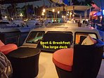 Enjoy drinks in the evening on our large deck