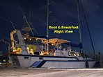 Boat and Breakfast at Night