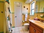 Master bathroom has a shower.