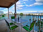 Large balcony with stunning Clearwater Harbor view.