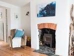 Log burner makes for cosy  winter evenings