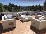 Detached apartments own terrace, through a beautiful gateway. Peaceful & stunning 360 degree views