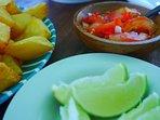 Fresh chili and lime