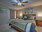 Two lucky guests can stay in this luxurious master suite.