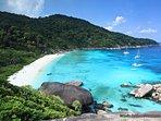 Similian Islands, World Top 10 diving destination, off the coast of Khao Lak.