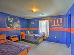 Rest easy in this Giants themed room with a twin and full bed.