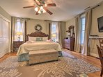 Sleep soundly on the California king bed in the master bedroom.