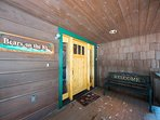 The large front porch welcomes you to this North Lake Tahoe home.