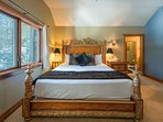 Rest well in the exquisite king-size bed in the Master Bedroom.