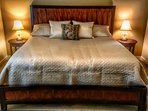 Ultra Comfortable King Bed in Spacious Master Bedroom