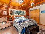 Master bedroom, queen bed and 32' Smart TV