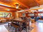 The open floor concept is quintessential  for entertaining