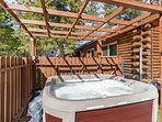 Hot tub under the gazebo