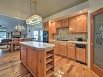 This fully equipped kitchen offers ample counter space.
