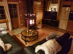 Enjoy romantic evenings by the fireplace.