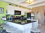 Pull up a chair to the kitchen bar.